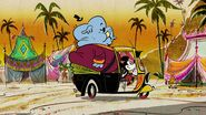 Mickey traveling with elephant