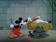 Mickey and stork