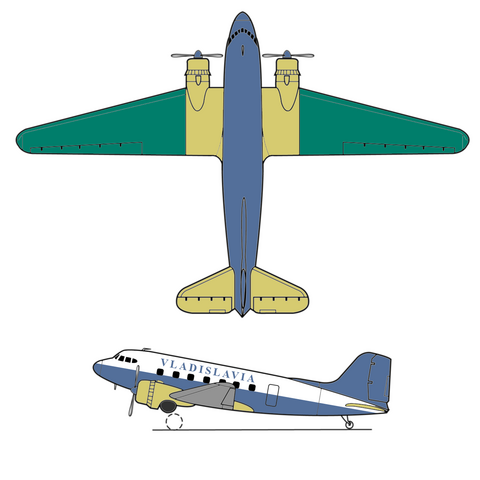 The first project of national marking on Douglas DC3