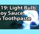 2x001 - Light bulb, toothpaste and soy sauce