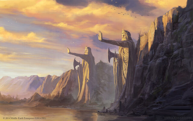 File:The argonath lord of the rings tcg by jcbarquet-d84gqh8.jpg