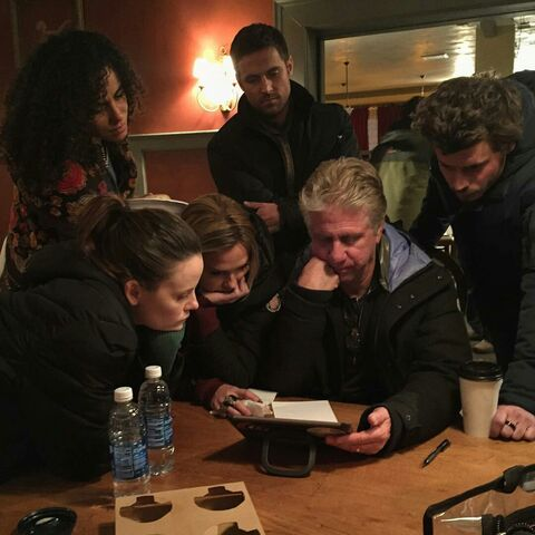File:BTS David Soloman and Cast watching rough cuts.jpg