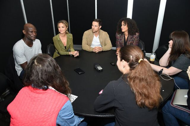 File:Cast interview.jpg