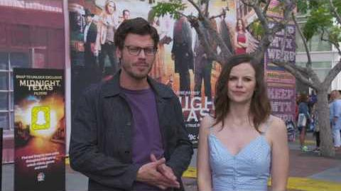 NBC's Midnight, Texas Francois Arnaud & Sarah Ramos SOUNDBITE