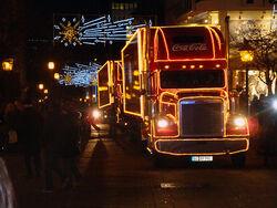 CoCa Cola Christmas Truck Freightliner 2009-11-26 Essen Germany 1