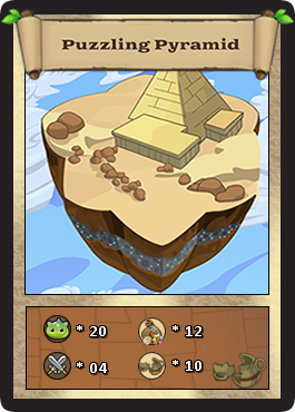 Puzzling pyramid card