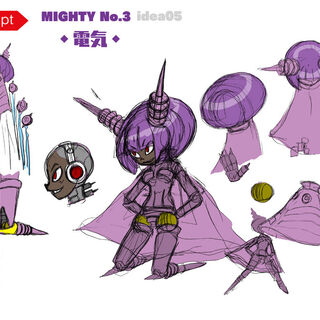 Concept art of Mighty No. 3's legs