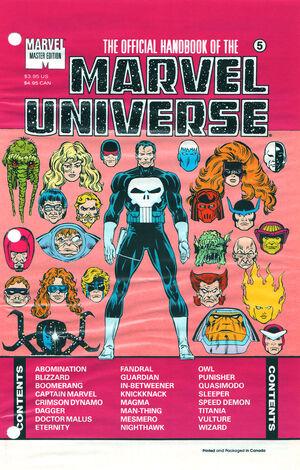 Official Handbook of the Marvel Universe Master Edition Vol 1 5