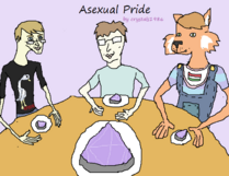 Asexual pride picture w me and my friends cake by crystals1986-d60x8y3