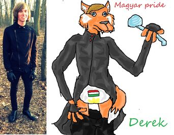 Derek s fursona comparison by crystals1986-d5ydomy