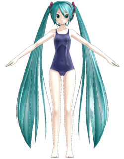 1052 Miku swimsuit ver.1.10 by Gouriki