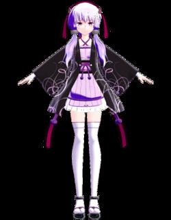 Yukari kimono black by Omiya