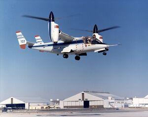 XV-15 takeoff