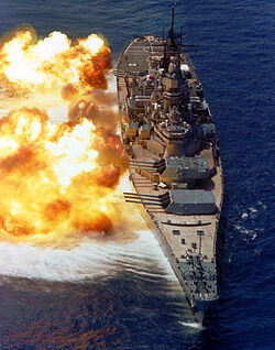 BB61 USS Iowa BB61 broadside USN
