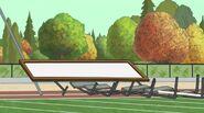 55 knocks over hurdles whiteboard pole