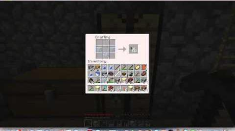 How to make a glass bottle of water in minecraft