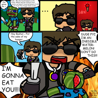 Minecraft mini comic no food in hunger games by minccifancutie-d78fdpi