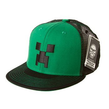 File:Minecraft-Snap-Back-Hat-CREEPER-FACE-Green-Black-One-Size-0.jpg