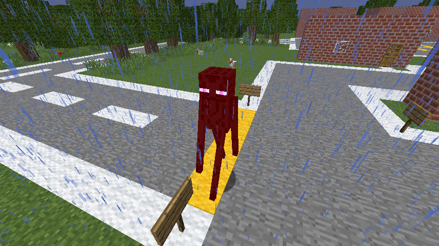 Enderman In Rain