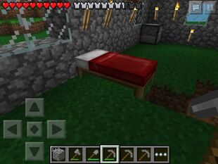 Bed in a house