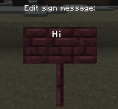 Nether brick sign