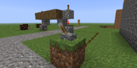 Redstone activated falling block