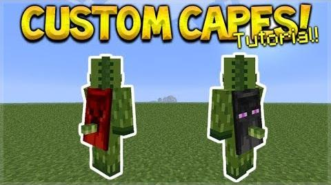 HOW TO USE CUSTOM CAPES IN MCPE 1.2- Minecraft Pocket Edition Custom Capes On YOUR Skin Tutorial