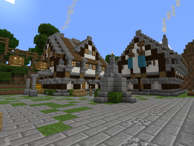 File:Minecraft medieval house.png