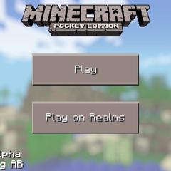 MCPE main menu in Update 0.7.0
