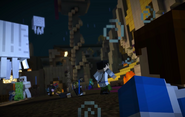 Mcsm ep5 sky-city mobs attack citizens jesse iron-golem