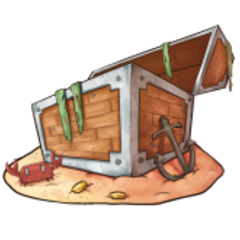 The official artwork for Old Chests.