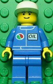 Octan Blue Oil with White Cap