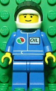Octan Blue Oil with White Helmet
