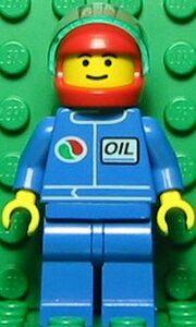 Octan Blue Oil with Red Helmet