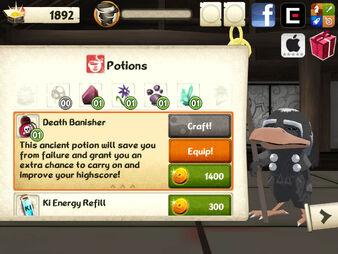 Mini Ninjas Mobile potions