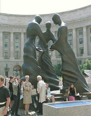 Precog statue