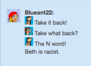 Beth is racist