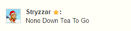 Too much tea