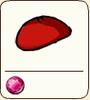 Red felt cap