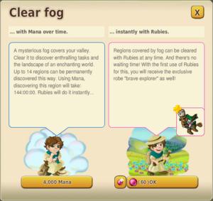 Clear fog