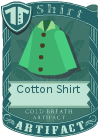Cotton shirt collared green