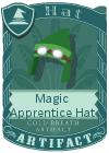Magic Apprentice Hat Dark Green