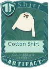 Cotton shirt bow brown