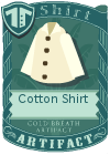 Cotton shirt collared