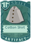 Cotton shirt collared grey
