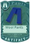 Wool pants blue