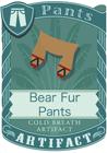 Bear Fur Pants Brown