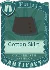 Cotton Skirt Black
