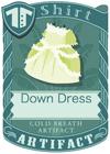 Down Dress Green