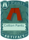 Cotton Pants Red
